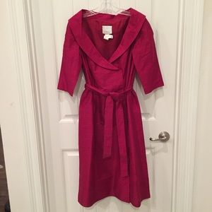 Silk Maroon Cocktail Dress Size 10